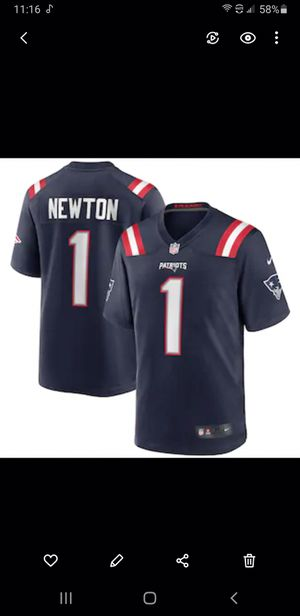 Patriots cam newton jersey size small n xl n 2xl n 3xl stitched firm price pick up only for Sale in Colton, CA