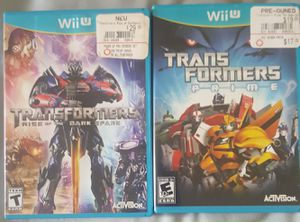Wii U 2 Transformers games prime and rise of the dark spark nintendo for Sale in Southampton, PA