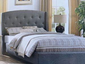 Cama queen in cluye colchón entrega por el mismo precio disponible dos colores blu grey i alburi for Sale in Norwalk, CA
