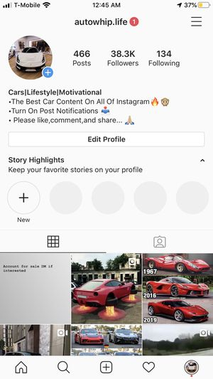 Instagram account for sale for Sale in Santa Clarita, CA