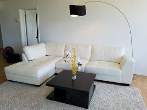 White leather sectional couch for Sale in West Palm Beach, FL