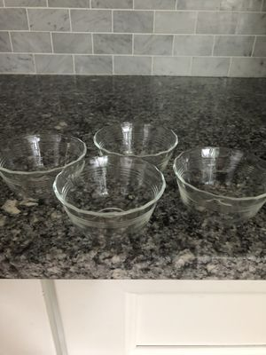 4 perfect Pyrex pudding custard dishes for Sale in Secaucus, NJ