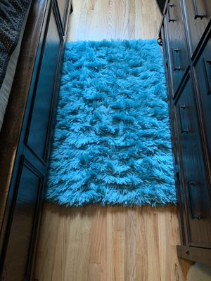 3x5 soft shag turquoise rugs (3) for Sale in Portland, OR
