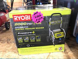 Brand new Ryobi 2000psi pressure washer in the box for Sale in Dallas, TX