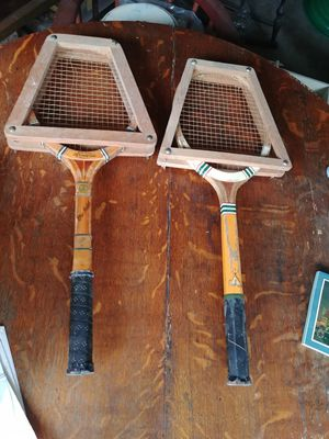 2 Vintage Tennis Racquets & Press for Sale in Houston, TX