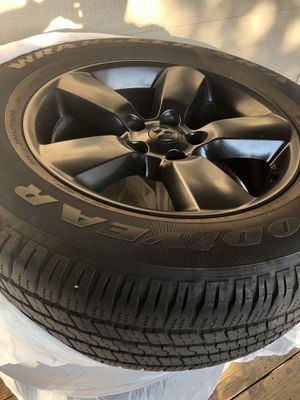 Black rims & tires for a Dodge Ram 1500 for Sale in Bend, OR