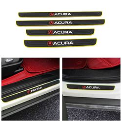 BRAND NEW 4PCS ACURA YELLOW RUBBER DOOR SILL SCUFF UNIVERSAL for Sale in City of Industry,  CA