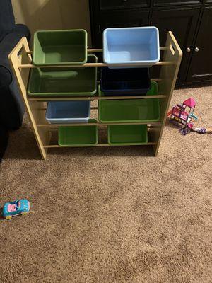 Kids shelf/ toy bins for Sale in Beaumont, CA