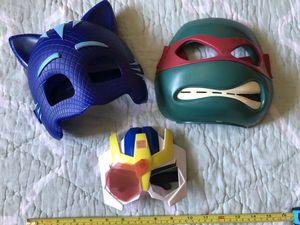 Masks (pj masks, ninja turtles, transformers) for Sale in Mesa, AZ
