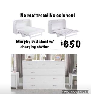 Queen Murphy bed with charging station for Sale in Dallas, TX