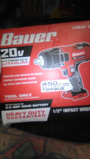 Bauer 20v impact wrench for Sale in Fontana, CA