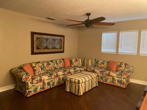 Sectional sofa/couch with ottoman XL for Sale in Bradenton, FL