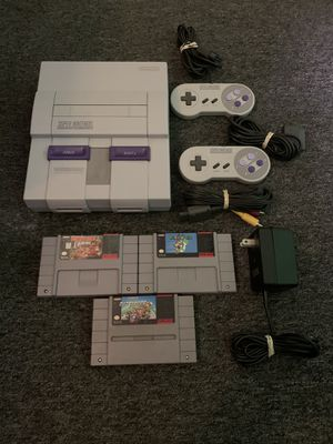 Super Nintendo Bundle With 3 Games and Cords for Sale in Lakewood, OH