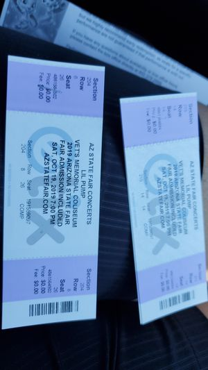 4 tickets for today's concert at the fair for Sale in Phoenix, AZ