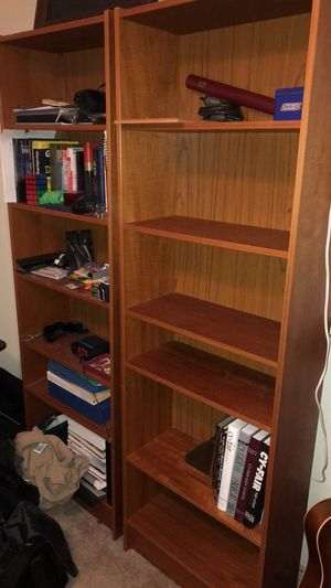 Brown Wooden Bookshelves for Sale in Dallas, TX