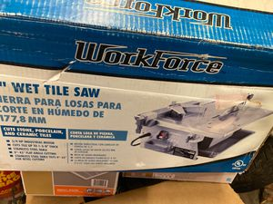 WorkForce wet tile saw $90 for Sale in Chicago, IL