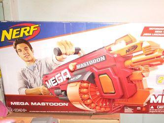 NERF MEGA Mastodon N-Strike Motorized Dart Blaster New Toy ! for Sale in Cranston,  RI