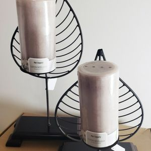 """Pair Leaf Shaped Candle Holders 13"""" & 19"""" for Sale in Atlanta, GA"""