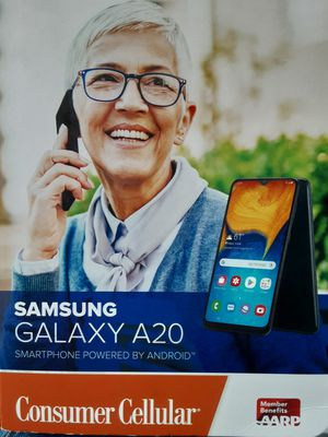 Galaxy samsung A20 consumer cellular cell phone for Sale in Springfield, OR