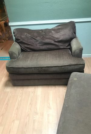 Two couches with a foot autumn storage bed loveseat with twin sofa bed Full couch with full sofa bed for Sale in San Leandro, CA