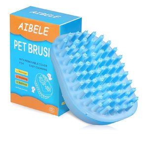 AIBELE Dog Bath Brush,Massage Grooming Brush for Dogs and Cats,Soft Pet Shampoo Brush for Shedding Hair for Sale in Rosemead, CA
