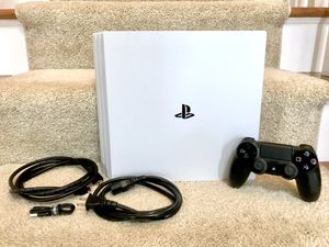 Sony PlayStation 4 Pro (PS4) Glacier White for Sale in South Riding, VA