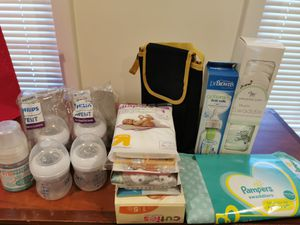 Baby gift (bottles, diapers, swaddle and More) for Sale in Elkridge, MD