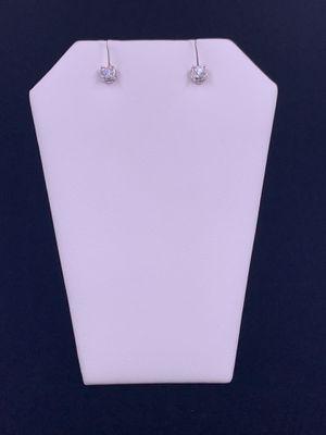 White Gold Diamond Earrings .75 1.9g 14kt for Sale in Phoenix, AZ