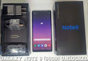 Galaxy Note 8 (64GB) Factory-UNLOCKED (Like-New) for Sale in Arlington, VA
