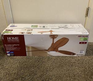 "Home Decorations Tidal Breeze 56"" LED Koa Ceiling Fan Remote Control for Sale in Davis, CA"