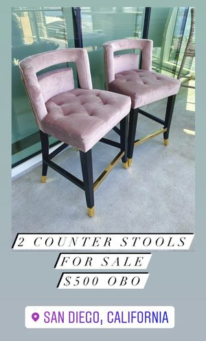 Blush Velvet Counter Stools for Sale in San Diego, CA