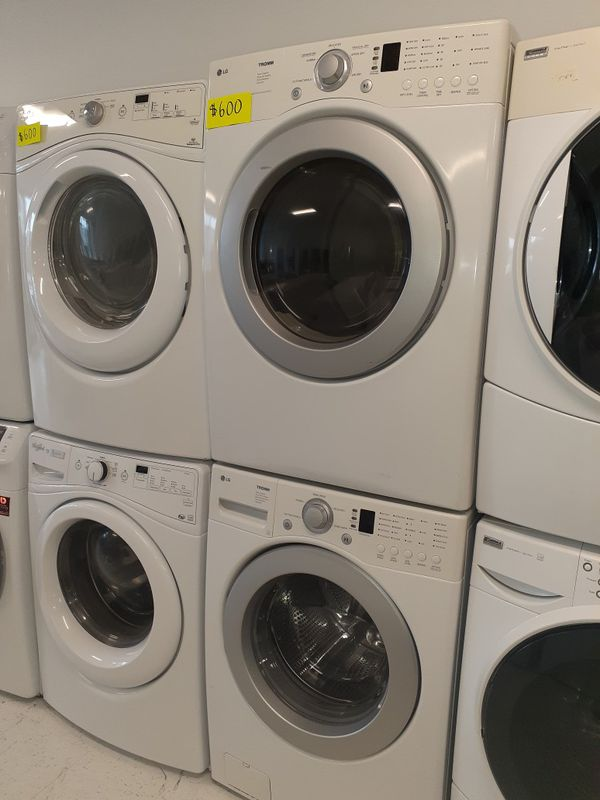 LG front load washer and electric dryer set in excellent condition with 90 days warranty