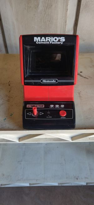 1983 nintendo Mario's cement factory game for Sale in Phoenix, AZ