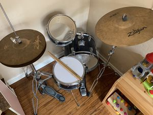 Kids drum set with higher quality hardware for Sale in Santa Ana, CA