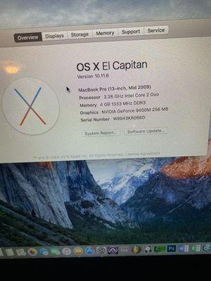 Mid 2009 MacBook Pro 13 Inch for Sale in Atlanta, GA
