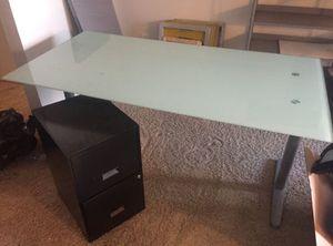 Office 3 pc IKEA Desk, cabinet, shelf for Sale in El Cajon, CA