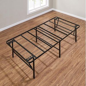 Twin steel foldable bed frame WITH twin mattress for Sale in Dana Point, CA