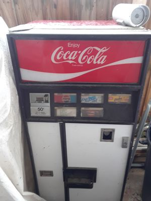 Soda machine with a case of 8oz collectable bottles for Sale in Port St. Lucie, FL