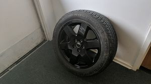 255/50 R 19 cross contact tire with black 5 lug 8Jx19EH2-53 aluminum alloy rim for Sale in Seattle, WA