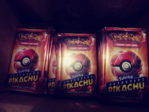 Detective pikachu movie promo card pack for Sale in Louisville, KY