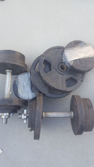 Iron weights barbells for Sale in Burbank, CA