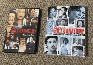 Grey's Anatomy Season 1 & 2 for Sale in Fort Worth, TX