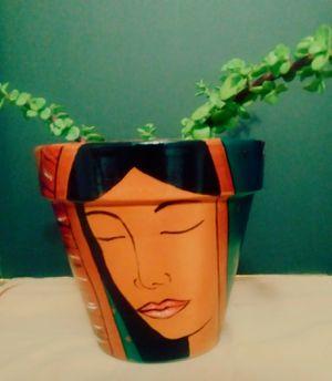 Virgen de Guadalupe painted on terracota pot for Sale in Phoenix, AZ