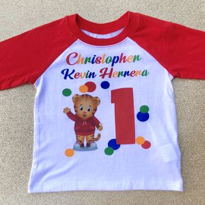 Daniel The Tiger Personalized Birthday Baseball Tee for Sale in Long Beach, CA