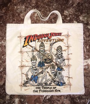 INDIANA JONES ADVENTURE - TEMPLE OF THE FORBIDDEN EYE CANVAS TOTE BAG for Sale in Phoenix, AZ