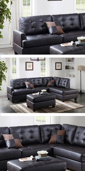SECTIONAL & OTTOMAN | LIVING ROOM | COUCH | LOVESEAT | SOFA | JUEGO DE SALA | DELIVERY FREE BY TMF 🚚📦🛠 for Sale in Miami Springs, FL