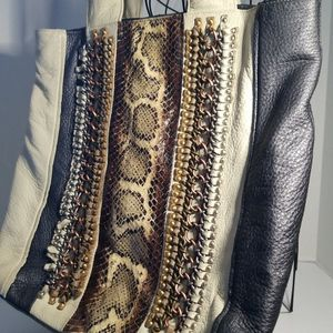 Isabella Fiore Studded Leather Hobo Shoulder Bag BOHO for Sale in Phoenix, AZ