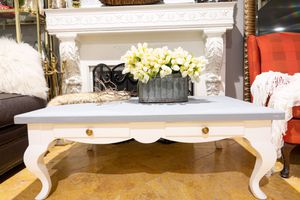 Ethan Allen White w/ Gray Wash Coffee Table for Sale in Azusa, CA