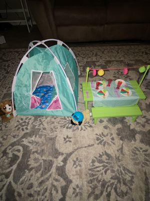 American girl doll camping set for Sale in Phoenix, AZ