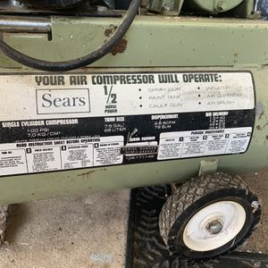Air Compressor (Sears Craftsman) for Sale in Burlington, NJ